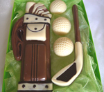 Hand made chocolate golf set
