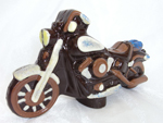 Hand-made chocolate Harley Davidson
