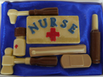 Hand-made chocolate nurse kit