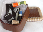 Hand-made chocolate sewing kit