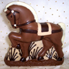 a picture of a chocolate horse