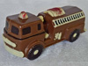 a picture of a milk chocolate fire engine