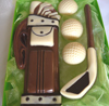a picture of a chocolate golf set