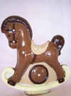 a picture of a chocolate rocking horse