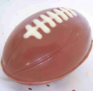 a picture of a chocolate rugby ball