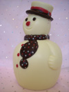 a picture of a white chocolate snowman